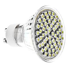 4W GU10 LED-spotlys MR16 60 SMD 3528 350 lm Naturlig hvid Vekselstrøm 220-240 V