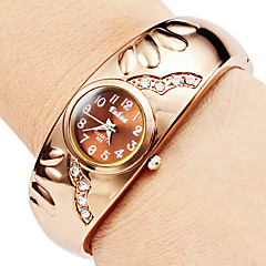 Dames Modieus horloge Kwarts Legering Band Bangle armband Brons Merk-