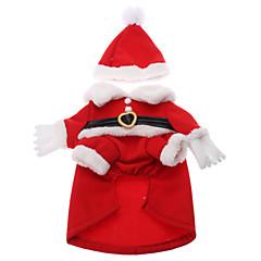 Natale Babbo Natale Coat Style Costumi per Cani Gatti (XS-XL)