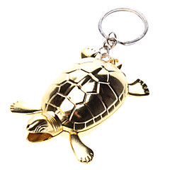 Gold Turtle Gas Lighter with Keychain