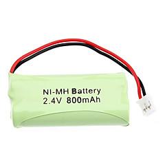 2.4V 800 mAh Genopladeligt AAA Ni-MH batteri med PH Port