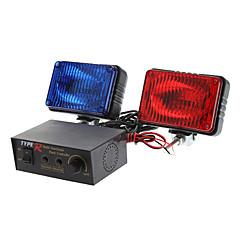 Multi-Function Car Red/Blue Strobe Light Warning Light (DC 12V)
