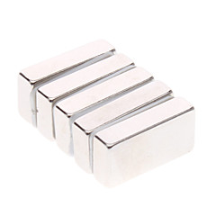 5-Pack Super-Strong Rare-Earth RE Magnets (20x10x5mm)