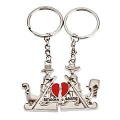 1-pair hliníkový člun pár Keychain
