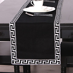 Black / Silver Linen Rectangular Table Runners