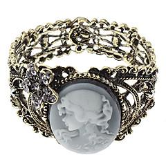 Z&X®  Temperament Lady Relief Ancient Hollow Out Wide Bracelet