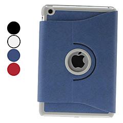 draaibare ontwerp pu lederen case w / stand voor iPad mini 3, ipad mini 2, ipad mini (verschillende kleuren)