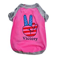 victoria americana patrón de algodón camiseta para perros (XS-L)