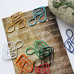 Semiquaver Style Colorful Paper Clips (Random Color, 10-Pack)