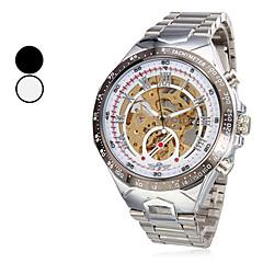 Menns Hollow Stil Analog Steel Mekaniske armbåndsur (assorterte farger)