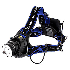 Focus Adjustable Zoom 3-Mode Cree XM-L T6 LED Headlamp (1000LM, 10W, 4xAA)