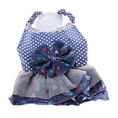 modelo del corazón del vestido del estilo del bowknot para los perros (XS-L)