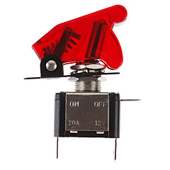 LED fai da te rosso illuminato Toggle On / Off per auto (12V 20A)