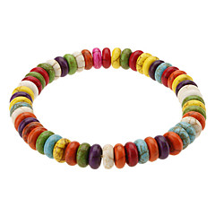 Lovely Candy Style Abacus Shape Colored Glaze Bracelace