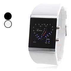 Unisex Estilo AMOR silicone relógio de pulso Digital LED (cores sortidas)