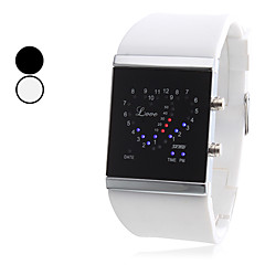 Unisex Love Style Silikon Digital LED-Armbanduhr (verschiedene Farben)