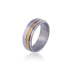 Unisex Multilayer Titanium Steel Gold & Silver Ring