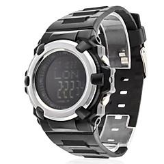 Heren Sporthorloge Digitaal horloge LCD Compass Digitaal Rubber Band Zwart
