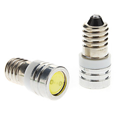 E10 1W White Light LED Bulb for Car Instrument/Side Marker Lamps (DC 12V, 1-Pair)