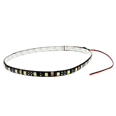 60cm 6W 30x5050SMD hvid LED Strip Light til Car Instrument / License Plate Lamp (12V)