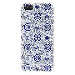 Para Capinha iPhone 5 Estampada Capinha Capa Traseira Capinha Flor Rígida PCiPhone 7 Plus / iPhone 7 / iPhone 6s Plus/6 Plus / iPhone