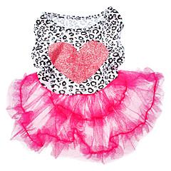 pethingtm patrón de impresión amor super lindo vestido de mascota fresca de verano para los perros