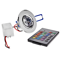 3 W 1 High Power LED LM RGB Recessed Retrofit Remote-Controlled Ceiling Lights AC 85-265 V