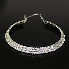 Necklace Choker Necklaces Jewelry Party Fashion Alloy / Zircon Silver 1pc Gift