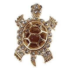 kvinnors sköldpadda formad diamant brosch