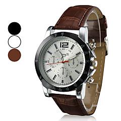 orologio di stile di affari dell'unità di elaborazione della fascia del cuoio del quarzo del polso degli uomini (colori assortiti)