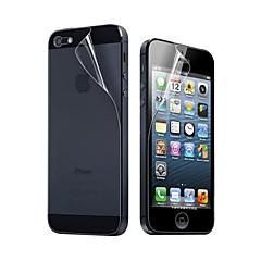 Folia Ochronna na Ekran i Tył dla iPhona 5 (3 Komplety)