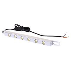 6W 480-540lm Luz Branca Lâmpada LED para carro Lâmpadas diurnas (DC 12V)