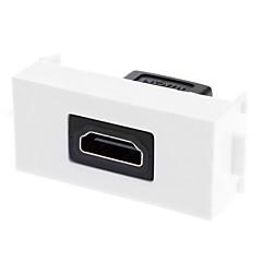 kaksiosainen upotettava seinään levy-joustava v1.4 High Speed HDMI Ethernet - yksi portti (1p)