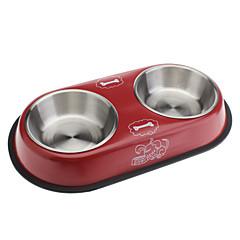 Adorável estilo Metal Bacia do alimento para cães e gatos