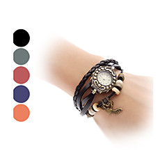 Women's Flying Heart Vintage Case Leather Band Quartz Analog Bracelet Watch (Assorted Colors) Cool Watches Unique Watches