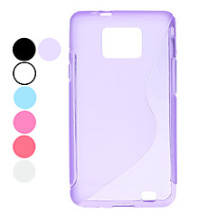 Samsung 은하 S2 I9100 (분류 된 색깔)를위한 S 모양 디자인 투명 소프트 케이스