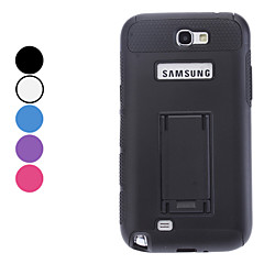 Double-Color Hard Case with Stand for Samsung Galaxy Note 2 N7100 (Assorted Colors)