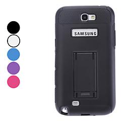 Double-Cor Hard Case com suporte para Samsung Galaxy Note N7100 2 (cores sortidas)