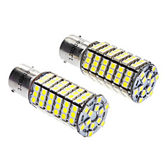 1156/BA15S 7W 6000-6500K 480LM 120x3528SMD LED White Light Bulb (12V DC, 1-Pair)