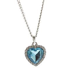 LanTao Heart Crystal Metal Necklace