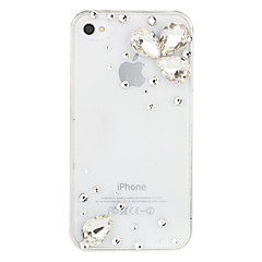 Waterdrop Crystal Transparent Case for iPhone 4/4S