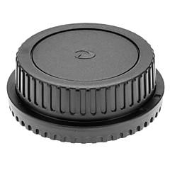 عدسة الكاميرا الخلفية + كاب غطاء الجسم لCANON EOS EF EF-S