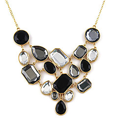Necklace Vintage Necklaces / Statement Necklaces Jewelry Party / Daily / Casual Fashion Alloy / Rhinestone Black 1pc Gift