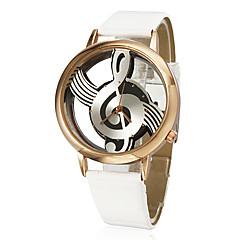 Relógio Feminino Quartz Analógico Estilo Nota Musical com Pulseira de Couro PU (Cores Diversas)