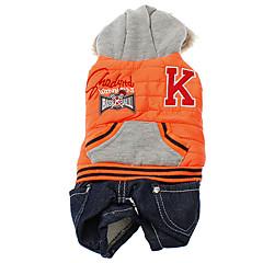 Addensare Street Basketball Cappotto stile con i pantaloni per Cani