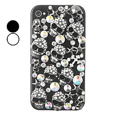 Skull Color Zircon Back Case for iPhone 4/4S(Assorted Color)