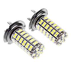 H7 5W 96x3528SMD LED White Light Car Fog light (DC 12-24V, 1-Pair)