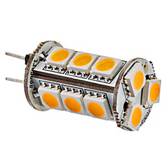 G4 3W 15x5050SMD 150-180LM 3000-3500K Warm White Light LED Corn Bulb (12V)