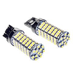 T20 5W 400LM 6000-6500K 102-LED White Light Bulb for Car (DC 12V)