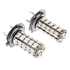 H7 4W 68x3528SMD Blue LED Car Fog light/Headlamp/Tail Light (DC 12V, 1-Pair)